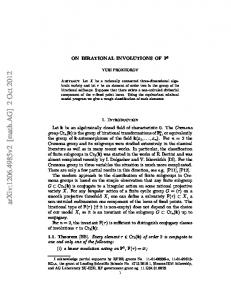 On birational involutions of $ P^ 3$