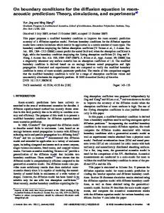 On boundary conditions for the diffusion equation ... - Semantic Scholar
