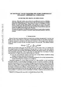 On boundary value problems for some conformally invariant ...