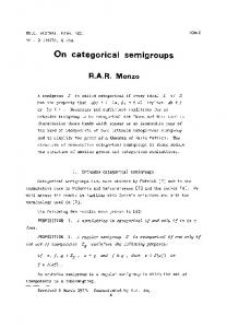 On categorical semigroups