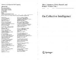 On Collective Intelligence
