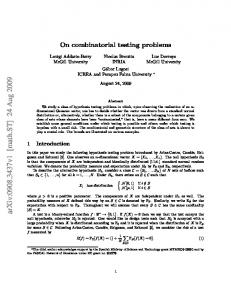On combinatorial testing problems