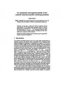 On complexity and approximability of the Labeled ... - Semantic Scholar