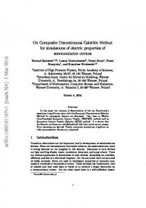 On Composite Discontinuous Galerkin Method - arXiv