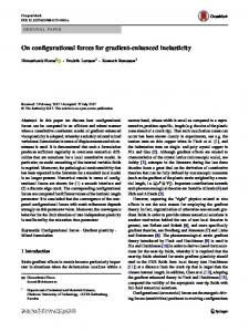 On configurational forces for gradient-enhanced inelasticity