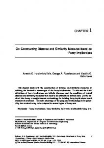 On Constructing Distance and Similarity Measures based on Fuzzy ...