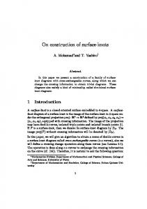 On construction of surface-knots