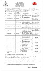 On contract basis NRHM Posts - Directorate of Health Services, Govt ...