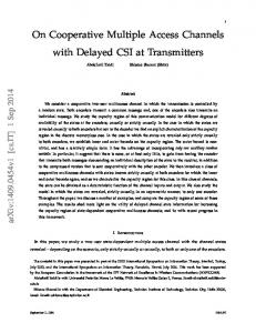 On Cooperative Multiple Access Channels with ... - Semantic Scholar