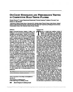on-court endurance and performance testing in