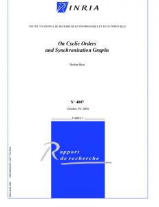 On Cyclic Orders and Synchronisation Graphs - Semantic Scholar