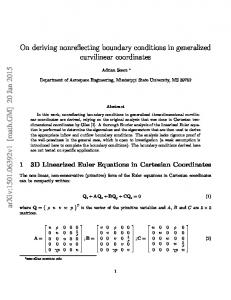 On deriving nonreflecting boundary conditions in generalized