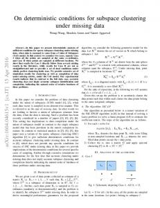 On deterministic conditions for subspace clustering under
