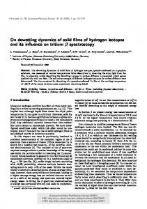 On dewetting dynamics of solid films of hydrogen ... - Semantic Scholar
