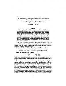 On discerning strings with finite automata