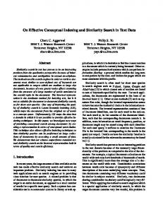 On Effective Conceptual Indexing and Similarity ... - Semantic Scholar