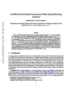 On Efficient Distributed Construction of Near Optimal Routing Schemes