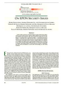 on epon security issues - IEEE Xplore