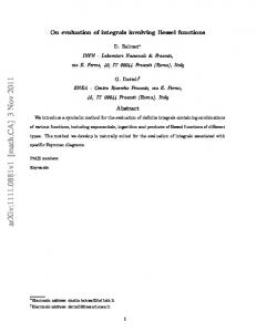 On evaluation of integrals involving Bessel functions