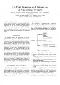On Fault Tolerance and Robustness in Autonomous Systems - LAAS
