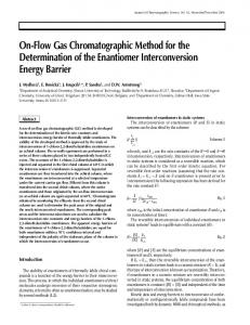 On-Flow Gas Chromatographic Method for the Determination of the ...