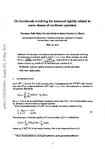 On functionals involving the torsional rigidity related to some classes ...