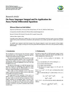 On Fuzzy Improper Integral and Its Application for Fuzzy Partial