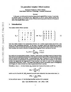 On Generalized Weighted Hilbert Matrices