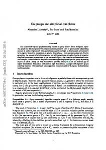 On groups and simplicial complexes
