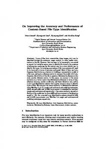 On Improving the Accuracy and Performance of ... - Semantic Scholar