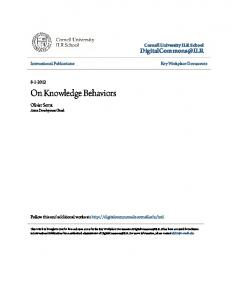 On Knowledge Behaviors