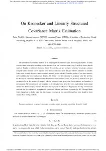 On Kronecker and Linearly Structured Covariance Matrix Estimation