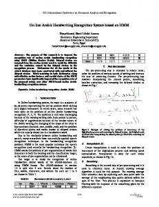 On-line Arabic Handwriting Recognition System Based on HMM - TC11