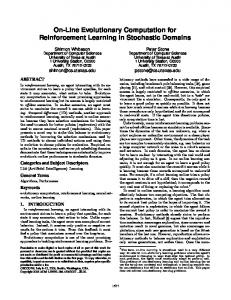 On-Line Evolutionary Computation for Reinforcement Learning in ...