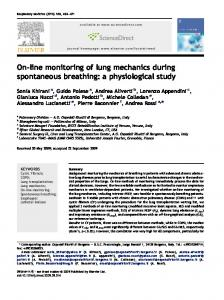 On-line monitoring of lung mechanics during spontaneous breathing ...