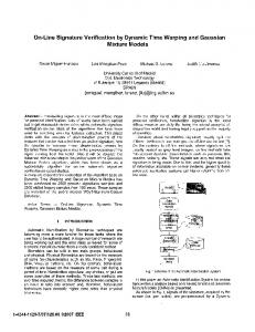 On-Line Signature Verification by Dynamic Time ... - IEEE Xplore