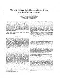 On-line voltage stability monitoring using artificial neural network ...