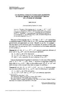 on mapping cones of suspension elements of finite order in the ...