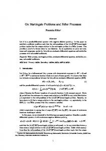 On Martingale Problems and Feller Processes - TU Dresden