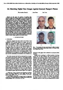 On Matching Digital Face Images Against Scanned ... - MSU CSE