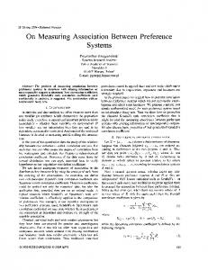 On measuring association between preference systems - CiteSeerX
