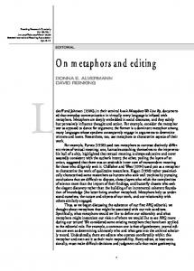 On metaphors and editing - Wiley Online Library