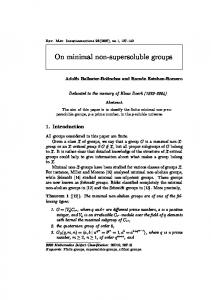 On minimal non-supersoluble groups - Project Euclid