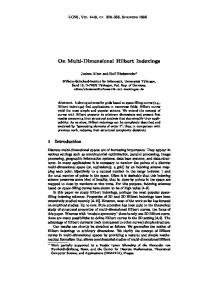 On Multi-Dimensional Hilbert Indexings - Algorithmics and ...