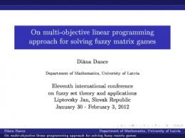 On multi-objective linear programming approach for solving fuzzy ...