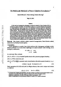 On Multiscale Methods in Petrov-Galerkin formulation