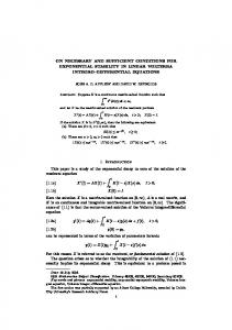 ON NECESSARY AND SUFFICIENT CONDITIONS FOR ... - CiteSeerX