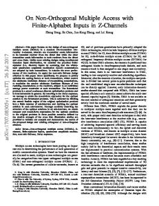 On Non-Orthogonal Multiple Access with Finite ... - Semantic Scholar