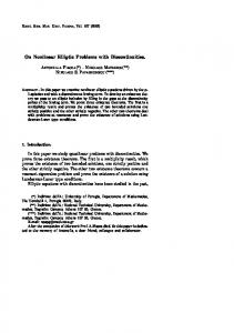 On Nonlinear Elliptic Problems with Discontinuities. - Numdam