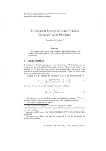 On Nonlinear Spectra for some Nonlocal Boundary Value Problems